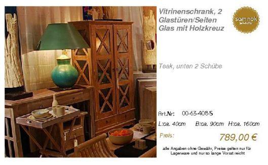 00-63-408-S-Vitrinenschrank, 2 Glastüre