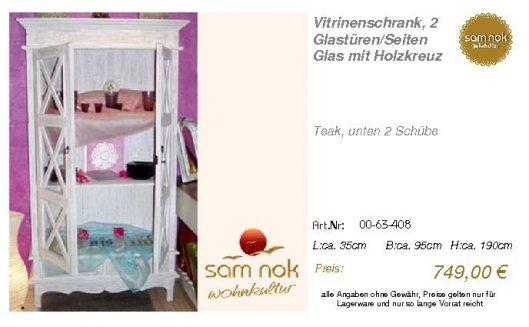 00-63-408-Vitrinenschrank, 2 Glastüre