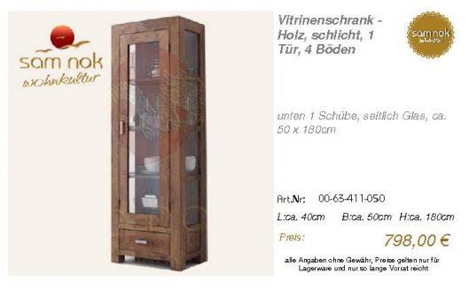 00-63-411-050-Vitrinenschrank - Holz, sch