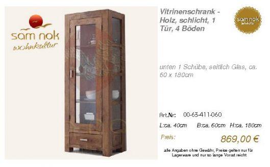 00-63-411-060-Vitrinenschrank - Holz, sch