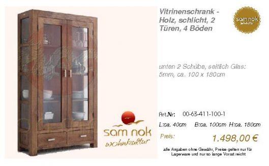 00-63-411-100-1-Vitrinenschrank - Holz, sch