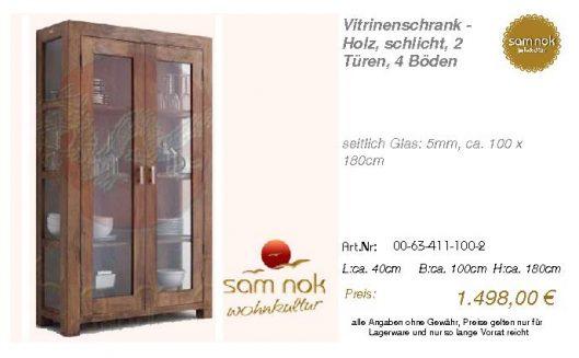 00-63-411-100-2-Vitrinenschrank - Holz, sch