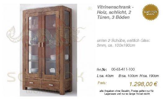 00-63-411-100-Vitrinenschrank - Holz, sch
