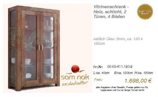 00-63-411-120-2-Vitrinenschrank - Holz, sch