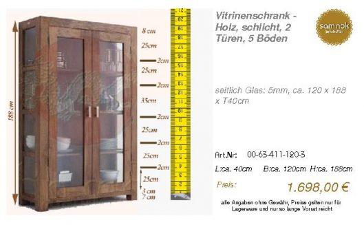 00-63-411-120-3-Vitrinenschrank - Holz, sch