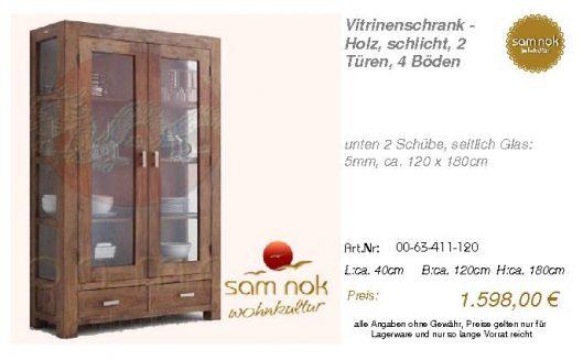 00-63-411-120-Vitrinenschrank - Holz, sch