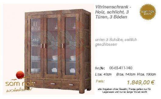 00-63-411-140-Vitrinenschrank - Holz, sch