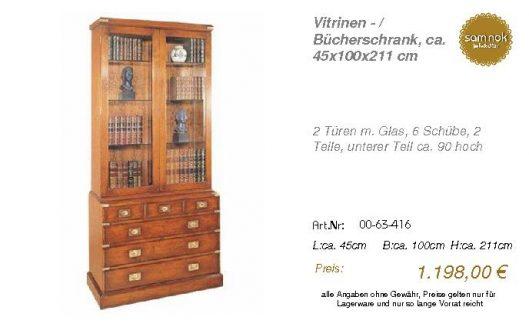 00-63-416-Vitrinen - _ Bücherschrank,