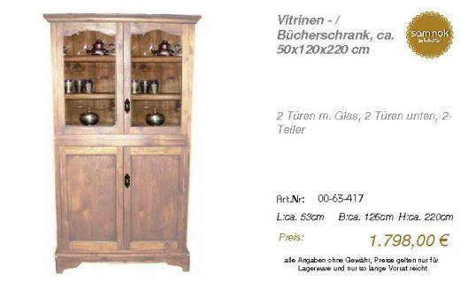 00-63-417-Vitrinen - _ Bücherschrank,