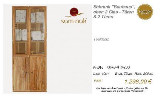 00-63-418-200-Schrank _Bauhaus_, oben 2 G