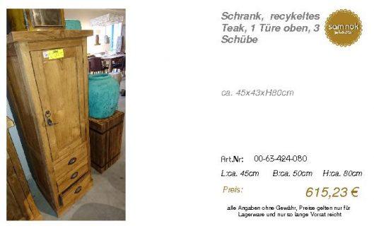 00-63-424-080-Schrank, recykeltes Teak,