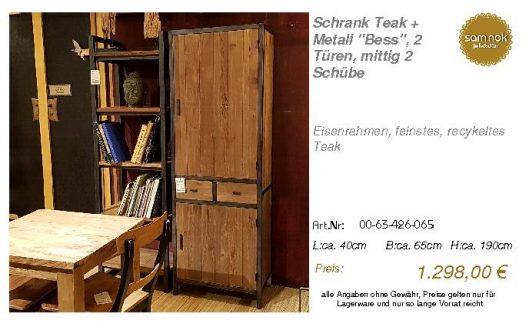 00-63-426-065-Schrank Teak + Metall _Bess