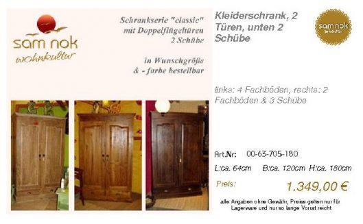 00-63-705-180-Kleiderschrank, 2 Türen, un