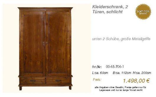 00-63-706-1-Kleiderschrank, 2 Türen, sc