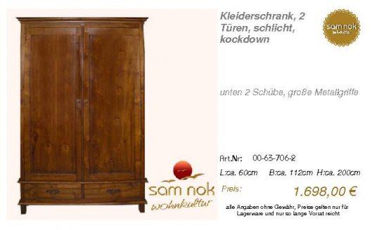 00-63-706-2-Kleiderschrank, 2 Türen, sc