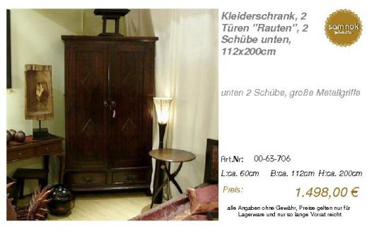 00-63-706-Kleiderschrank, 2 Türen _Ra