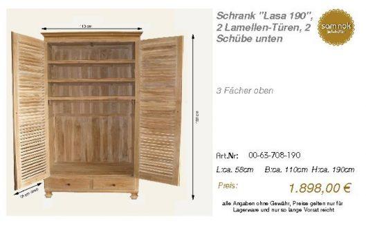 00-63-708-190-Schrank _Lasa 190_, 2 Lamel