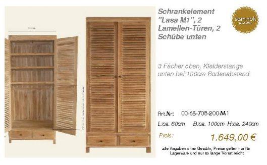 00-63-708-200-M1-Schrankelement _Lasa M1_, 2