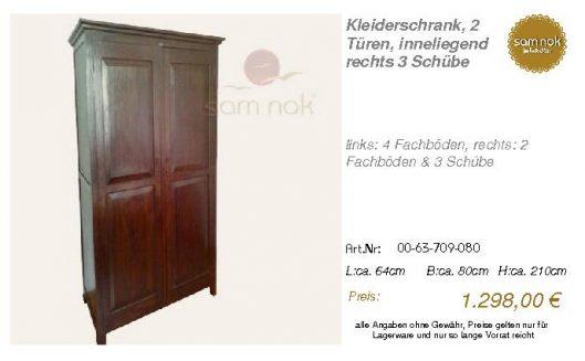 00-63-709-080-Kleiderschrank, 2 Türen, in