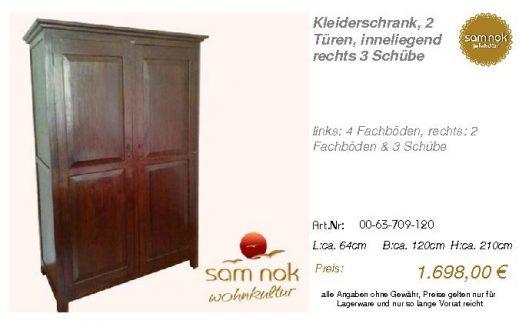 00-63-709-120-Kleiderschrank, 2 Türen, in
