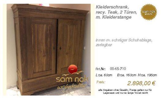 00-63-710-Kleiderschrank, recy. Teak,