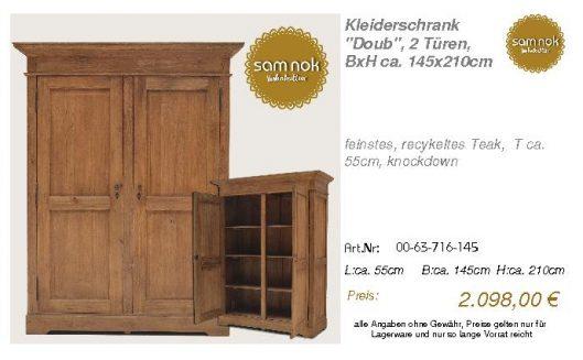 00-63-716-145-Kleiderschrank _Doub_, 2 Tü
