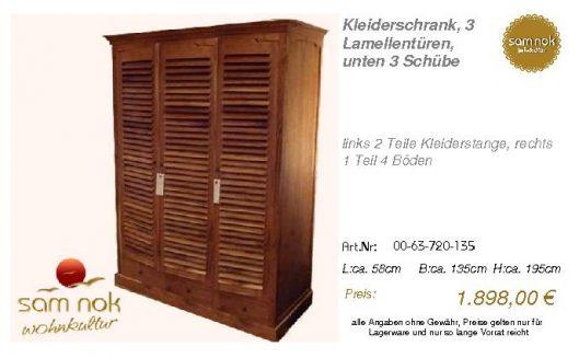 00-63-720-135-Kleiderschrank, 3 Lamellent