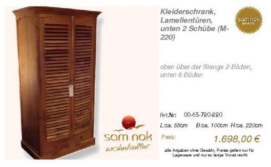 00-63-720-220-Kleiderschrank, Lamellentür