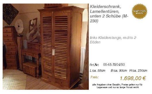 00-63-720-230-Kleiderschrank, Lamellentür