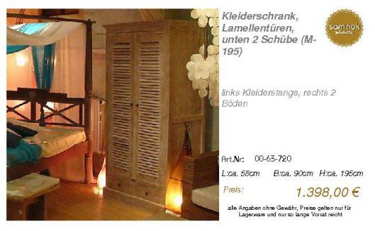 00-63-720-Kleiderschrank, Lamellentür