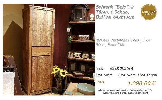 00-63-730-064-Schrank _Bojo_, 2 Türen, 1