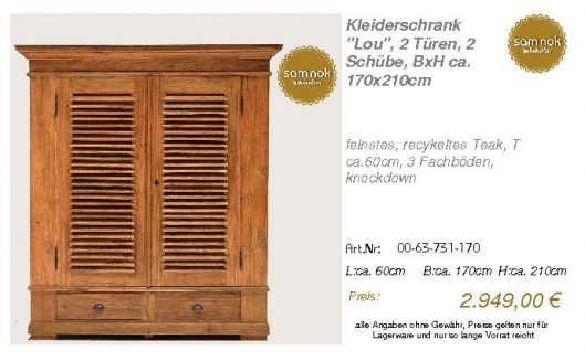00-63-731-170-Kleiderschrank _Lou_, 2 Tür