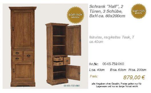 00-63-732-060-Schrank _Half_, 2 Türen, 3