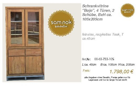 00-63-733-105-Schrankvitrine _Bojo_, 4 Tü