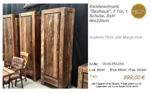 00-63-736-066-Kleiderschrank _Bauhaus_, 1
