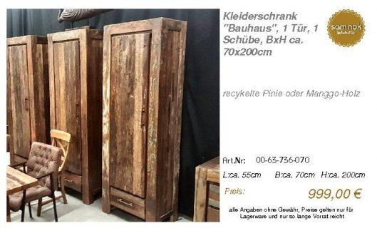 00-63-736-070-Kleiderschrank _Bauhaus_, 1