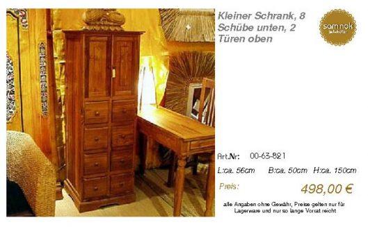 00-63-821-Kleiner Schrank, 8 Schübe u