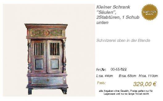 00-63-822-Kleiner Schrank _Säulen_, 2