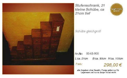 00-63-900-Stufenschrank, 21 kleine Sc