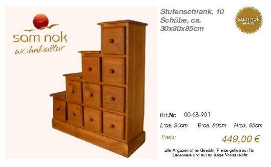 00-63-901-Stufenschrank, 10 Schübe, c