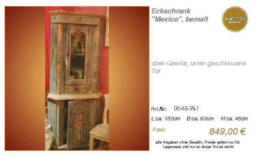 00-63-951-Eckschrank _Mexico_, bemalt