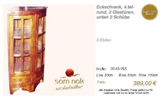 00-63-953-Eckschrank, 4.tel-rund, 2 G