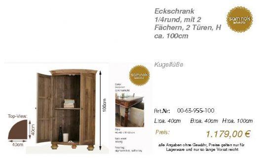 00-63-955-100-Eckschrank 1_4rund, mit 2 F