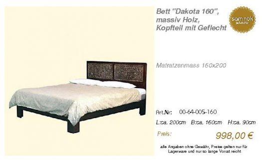 00-64-005-160-Bett _Dakota 160_, massiv H