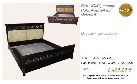 00-64-007-200-Bett _XXX_, massiv Holz, Ko