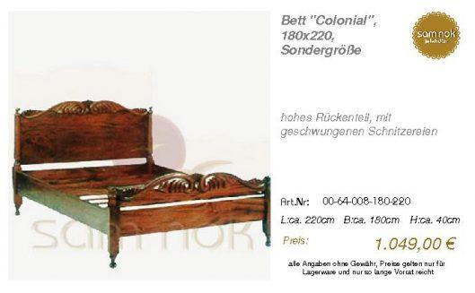 00-64-008-180-220-Bett _Colonial_, 180x220, S