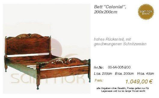 00-64-008-200-Bett _Colonial_, 200x200cm