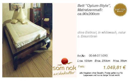 00-64-011-090-Bett _Opium-Style_, Matratz