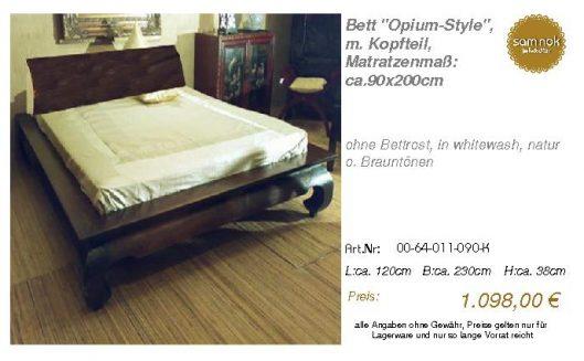 00-64-011-090-K-Bett _Opium-Style_, m. Kopf