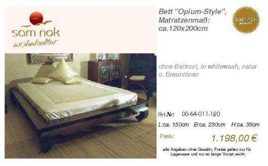 00-64-011-120-Bett _Opium-Style_, Matratz